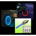 Par ( 2x ) Tampa Valvula Bico Led Neon Pneu Moto Carro Bike