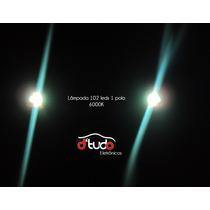 Lâmpada Led Xenon 6000k Luz De Ré 102 Leds 1 Polo 360º