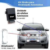 Kit Strobo Led Para Sinalização Automotiva - 4 Sinalizadores