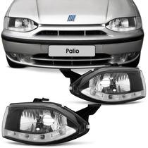 Farol Led Palio G1 96 97 98 99 2000 Cromado Daylight Simples