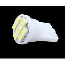 25xlampada 8 Leds T10 Pingo Farolete Xenon Super Branca