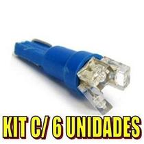 Kit 6 Lâmpada T5 Pinguinho P/ Painel C/ 3 Leds -varias Cores