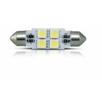 Lamp 4 Leds Smd 5050 Torpedo 42mm 10w Branca 12v Cx 10 Un