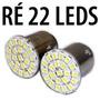 Lampada De Ré 22 Leds 1156 P21w Ultra Brilho Branca O Par