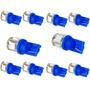 Kit 10 Lampada Pingo T10 / W5w 5 Leds 5050 Azul