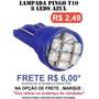 Pingo T10 8 Leds Smd Azul - Unidade