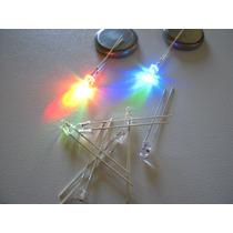 Led 3mm Alto Brilho Neon Pisca E Muda A Cor (pacote Com 20)