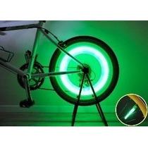 Bicos De Válvula Led Luz Neon Bike Motos Etc - 6 Unidades