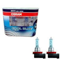 Par Lampada Osram Cool Blue Intense H11 4200k +20% Luz