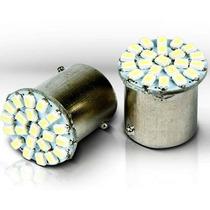 Lampada De Ré Luz Placa 22 Leds 1156 P21w 67 Branca 1 Polo