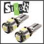 10x Par Lâmpada Canbus Canceller 5 Led 5050 T10 Pingo Xenon