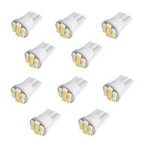 Kit 10 Lampadas Pingo 8 Leds T10 Super Branca Xenon Farolete