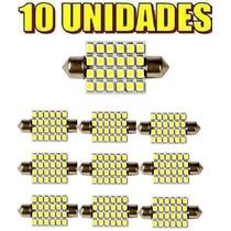 10 Lampadas Torpedo 24 Leds 36 Mm Smd 36mm Branca Xenon Led
