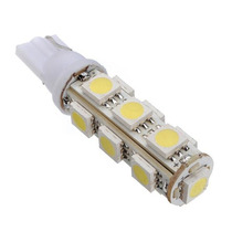 1 Par Lampadas 13 Leds 5050 Smd Pingo T10 Farol Super Branca