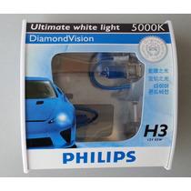 Lâmpada Super Branca Philips Diamond Vision H3 5000k