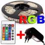 Fita Led Rgb 5050 Rolo 5m + Controle + Fonte - Frete Grátis