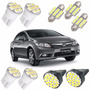 Kit Lâmpada Led New Civic Pingo Teto Placa Ré Torpedo Branca