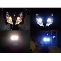 Par Lampada Para Moto Super Branca H1 H3 H7 H8 Tipo Xenon