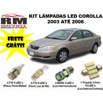 Kit Lâmpadas Led Corolla 2003/08 - Frete Grátis