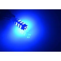 Par De Lampada Super Pingão 28 Led Azul Farolete T10