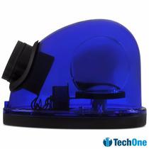 Giroflex Luz De Emergência Sinalizador Com Sirene 12v Azul