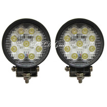Par Super Farol Auxiliar Milha Led Cree 54w Off Road 12v~24v