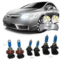Kit Lampada Super Branca New Civic 07/11 H11 Hb4 Hb3+brinde