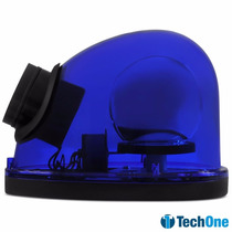 Giroflex Tech One Luz De Emergência Com Sirene 12v Azul