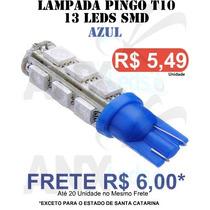 Pingo T10 13 Leds Smd 5050 Azul - Unidade - Frete 6,00