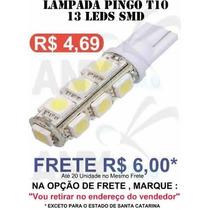Pingo T10 13 Leds Smd 5050 Branco - Unidade