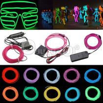 Fio Luz Neon Led 3 Mts C/controle 3v Consulte Cores *el Wire