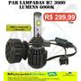 Kit Lampada Super Xenon Led Headlight H7 6000k 12/24 V 30w