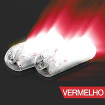 Kit Strobo Automotivo Ajk Lps Vittro Led 2 Faróis Vermelho