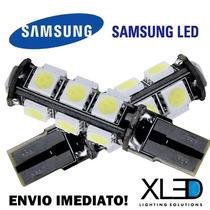 Par Lâmpadas Pingo T10 13 Led Canbus Samsung Xenon Branca