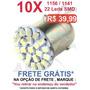 Kit 10 Lampada 1156 1 Polo 22 Leds P/ Ré - Frete Gratis
