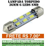 Lampada Torpedo 36mm 6 Leds Smd -