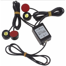 Promoção Strobo Controle Sem Fio 4 Pontos Drl Safety Car