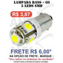 Lampada 69 5 Leds Smd Branco Xenon - Base Ba9s - 12v
