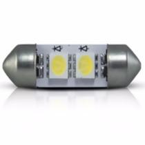 Lamp 2 Leds Smd 5050 Torpedo 42mm 5w Branca 12v Cx 10 Un
