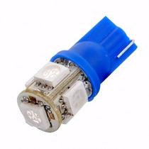Lampada Azul Pingo T10 Com 5 Leds Unidade - Frete 9,90