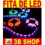 Fita Led Rgb 3528 Rolo 5m 300 Leds + Controle + Fonte 2a