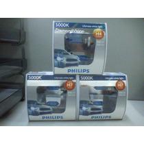 Lâmpada Diamond Vision Philips Super Branca H1 H4 H7 Hb3 Hb4