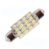 Lampada Torpedo 16 Leds Luz Teto Placa Smd Super Branca 36mm