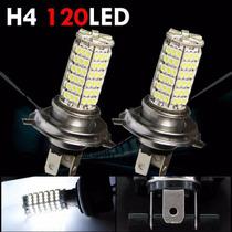 Lâmpada Led H4 120 Leds Efeito Xenon Farol Alto E Baixo