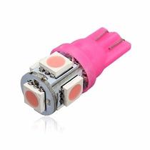 Lampada Rosa Pingo T10 Com 5 Leds Unidade - Frete 9,90