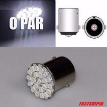 Lampada De Ré Placa 22 Leds 1156 P21w 67 Branca 1 Polo (und)