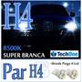 Par Lâmpada Super Branca H4 Tipo Xenon 8500k +pingo Led