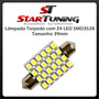 Lâmpada Torpedo 39mm Com 24 Led Smd3528 12 Volts