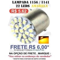 Lampada 1156 1 Polo 22 Leds Amarela 12v