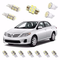 Kit Lâmpada Led Corolla 2009 / 2014 Farolete Ré Teto Placa